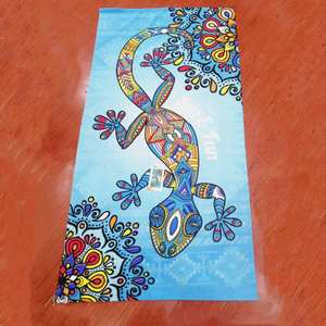 Sublimation Printing Microfiber Rectangle/Round/Profiled Beach Towel Custom Design Shape Low MOQ