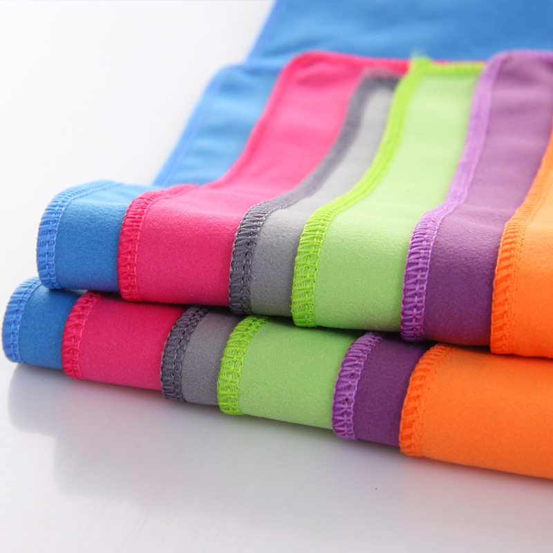 Polar Fleece (microfiber/suede) Sports Towel Gym Towel Solid Color or Customize Pattern/Logo Printed Available