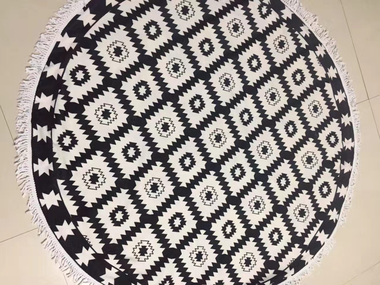 Microfiber Round / Rectangle Beach Towel Plate Screen Printed Stock and Custom Design Available