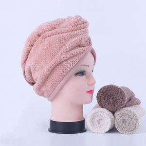 Pineapple Fleece Hair Wrap Towel Magic Hair-drying Cap turban Customize Logo Package